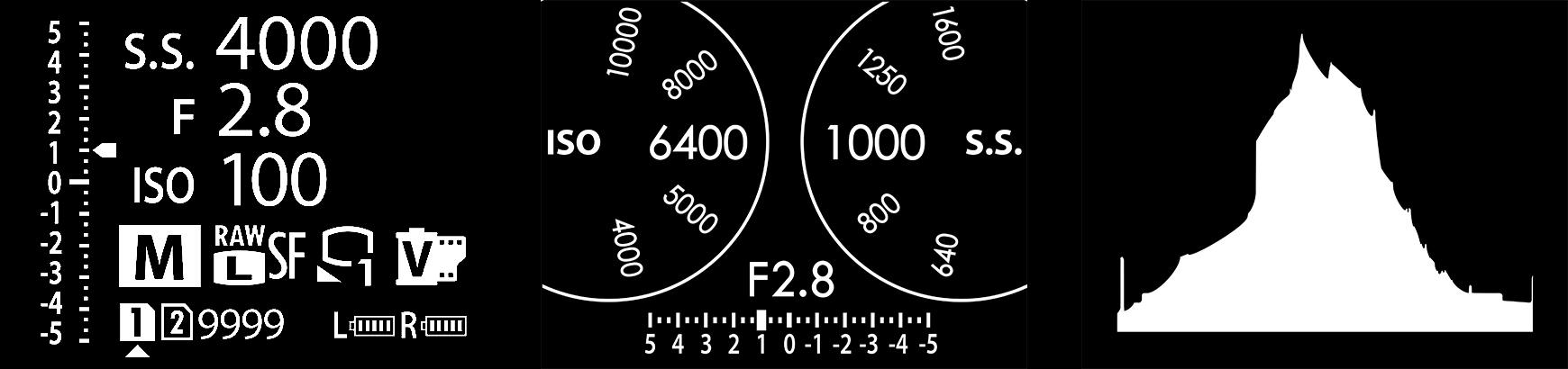 Fujifilm GFX 100 felső státuszkijelző
